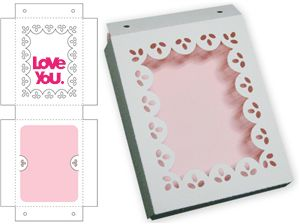 Silhouette Online Store - View Design #7378: scalloped lace gift box