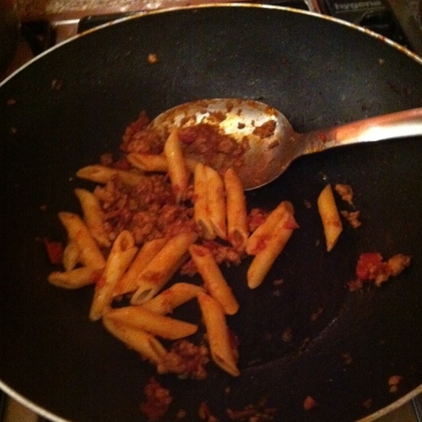 """Jools pregnant pasta"" from the Jamie Oliver 30 minute meals recipe book is a family favourite. Luckily you don't get ""up the duff"" by eating it!"