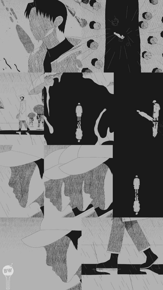 Rm Mono Forever Rain Mono In 2019 Bts Wallpaper Bts Bts