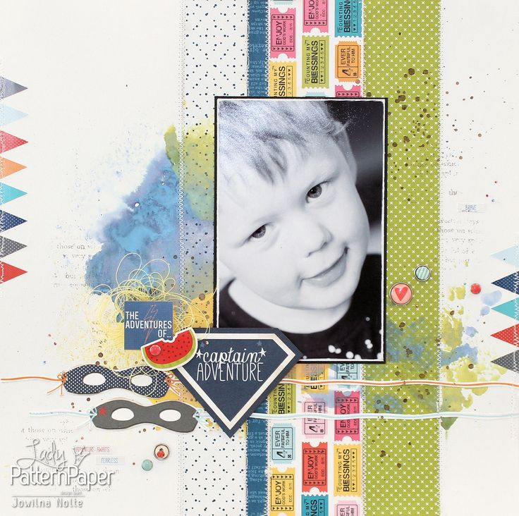 What does Superheroes and Fairytales have in common? Well, #LadyPatternPaper scrapbooking paper of course!