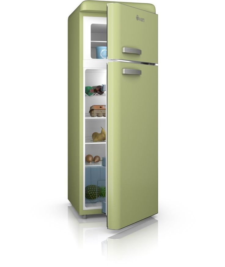 Buy swan sr11010gn retro fridge freezer green at argos