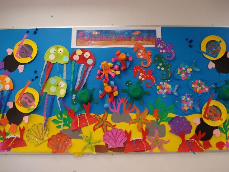 Pre Nursery Classroom Decoration ~ Pre k under the sea class display kindi displays