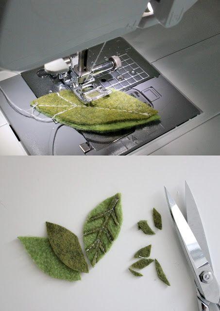 técnica para criar veios 3D em folhas de feltro