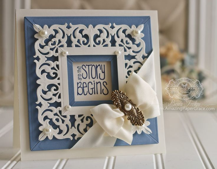 Card Making Ideas by Becca Feeken using Graceful Borders and Graceful Frame Maker - see full supply list at www.amazingpapergrace.com