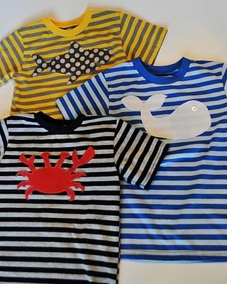Applique shirts