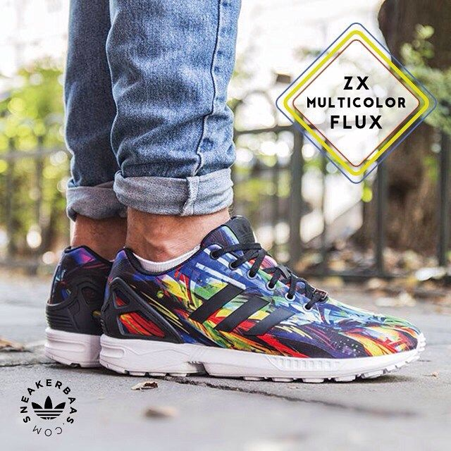 #adidas #zxflux #adidasoriginals #baasbovenbaas #sneakerbaas  Adidas ZX flux multicolor - This edition of the ZX flux comes in a flashy colorway!  Now online available | Priced 89,99 Euro! | Size 39 EU - 47 EU.