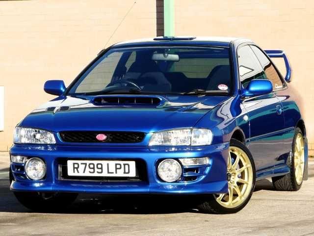 1998 Subaru Impreza 2.0 WRX STi Type-R 2-door coupe. Metallic Blue. Ltd ed. no 378.