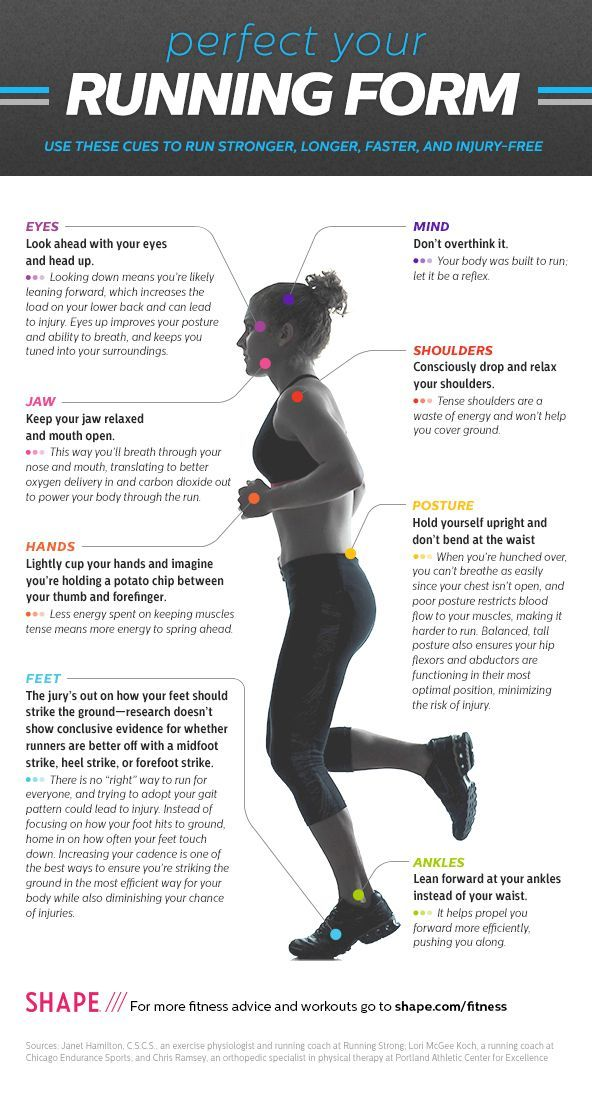 Run Faster, Longer, Stronger, and Injury-Free- Great graphic, good article. Running form is very important. #correres #deporte #sport #fitness #running