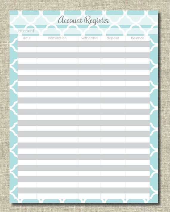 79 best Organization Printables images on Pinterest Boutique - Printable Bank Ledger