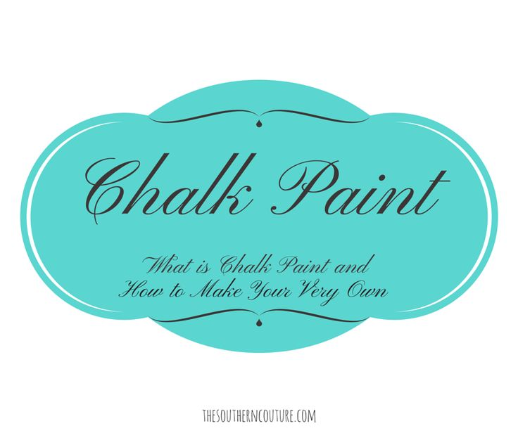 how to make chalk paint with chalk