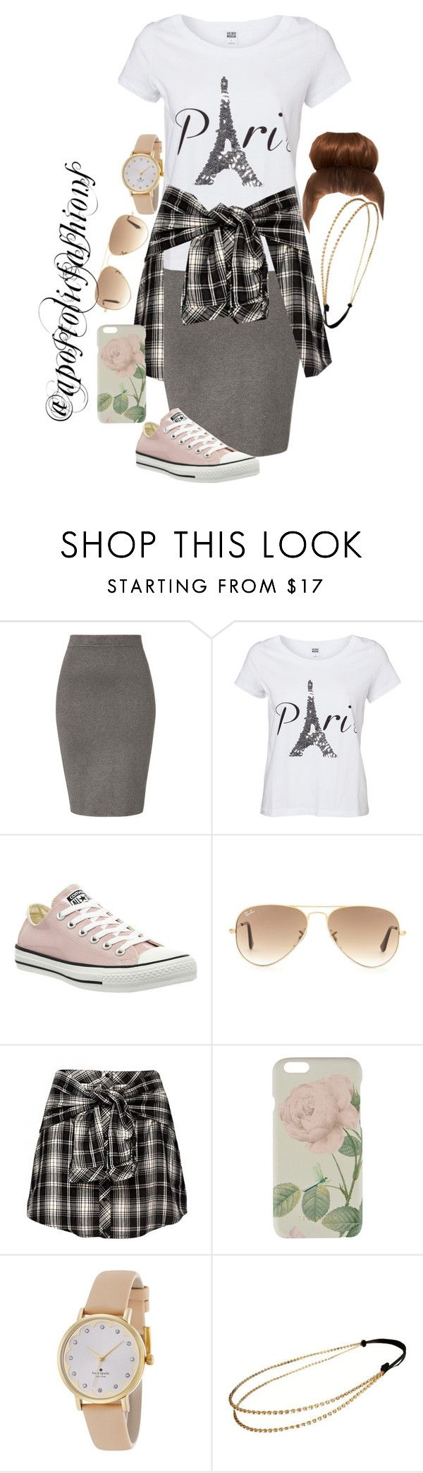 """Apostolic Fashions #1111"" by apostolicfashions ❤ liked on Polyvore featuring Jonathan Simkhai, Vero Moda, Converse, Ray-Ban, Ted Baker, Kate Spade and Chicnova Fashion"