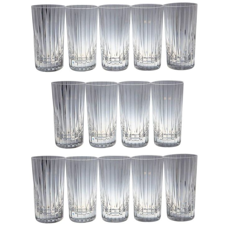 Set of 14 Baccarat Harmonie Crystal Highball Glasses | From a unique collection of antique and modern barware at https://www.1stdibs.com/furniture/dining-entertaining/barware/