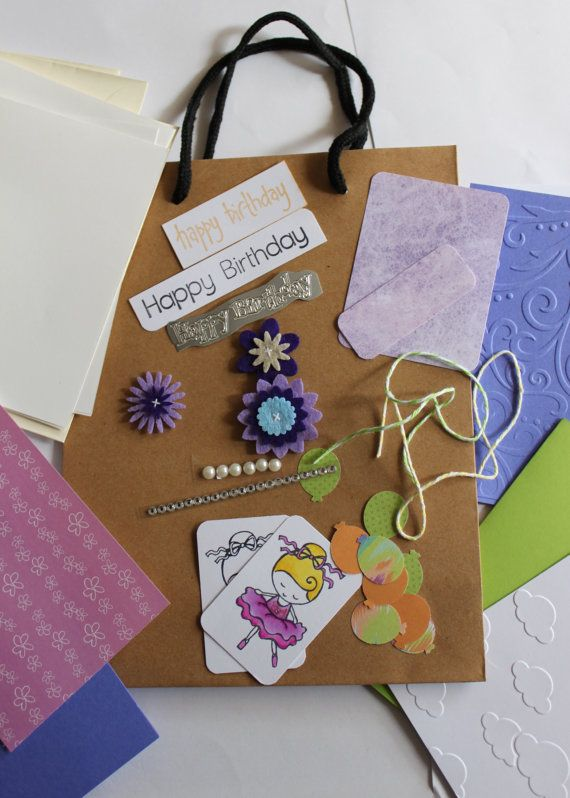 Card Making Gift Pack Happy Birthday by JacsCraftyCards on Etsy