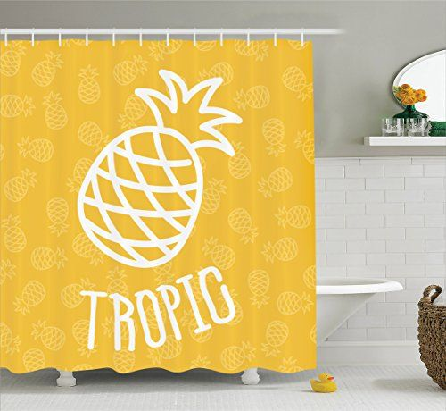 Yellow Decor Shower Curtain Set By Ambesonne, Little Trop... https://www.amazon.com/dp/B01IK524N2/ref=cm_sw_r_pi_dp_x_zwaqzbAYCRQ08
