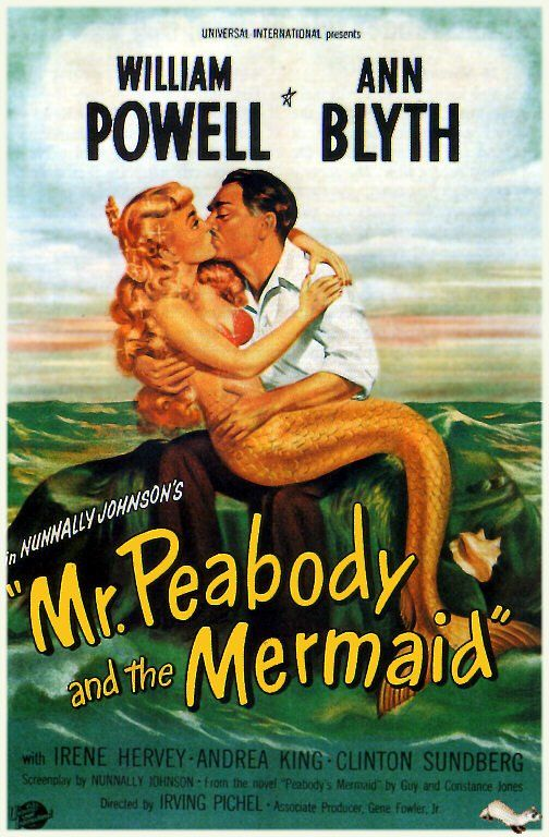 Pin for Later: A History of Mermaids in Pop Culture Mr. Peabody and the Mermaid In this 1948 movie, Mr. Peabody falls in love with a mischievous mermaid while on vacation.