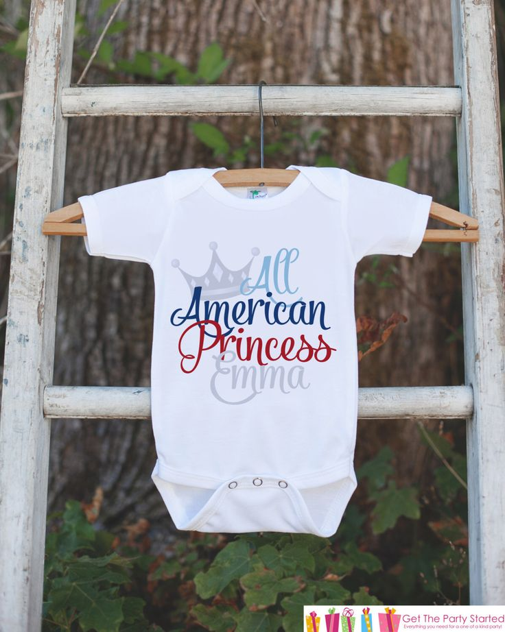 Girls 4th of July Outfit - All American Princess Onepiece or Tshirt - Fourth of July Shirt for Baby Girls - Kids Patriotic Shirt - July 4th by getthepartystarted on Etsy https://www.etsy.com/listing/279785418/girls-4th-of-july-outfit-all-american