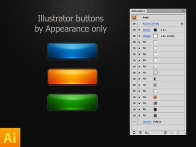 illustrator buttons 1x1 55 Extravagant PSD Freebies #5