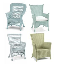 Painted wicker | Wicker Furniture, Keywords: best paint Colors, antique painted ...