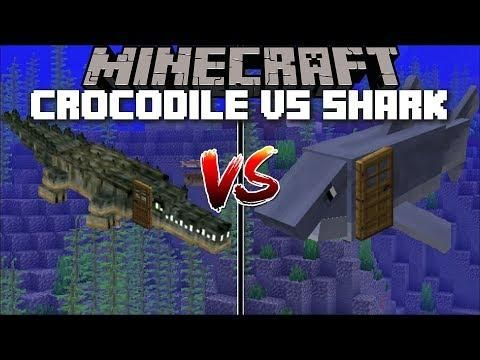 Minecraft CROCODILE HOUSE VS SHARK HOUSE MOD FIND OUT WHICH - Minecraft gun spiele