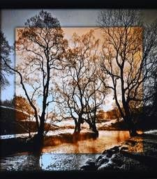 Buy Scenary View Satin Matt Texture Framed UV Art Print painting online