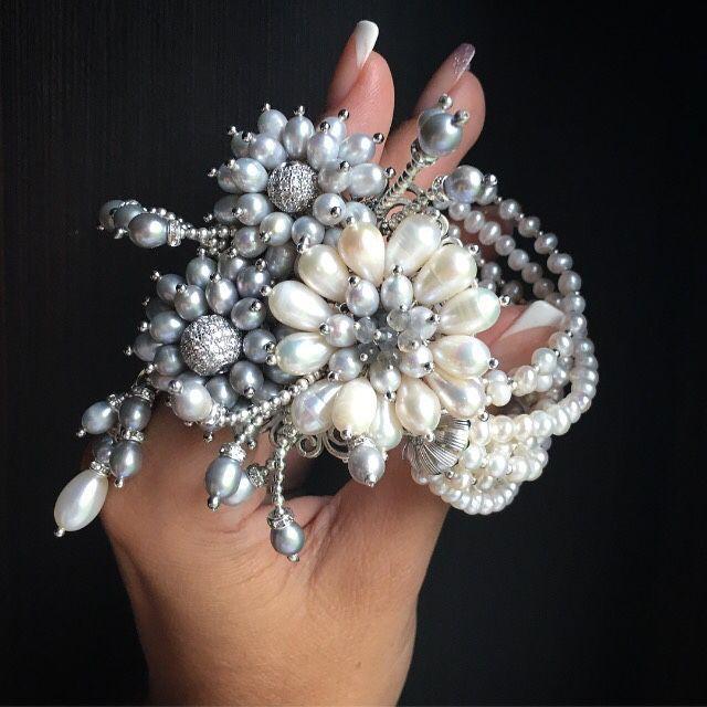 """Купить Свадебный браслет """"Мечтать..."""" - свадьба, свадебный браслет, свадебное украшение, жемчуг"""