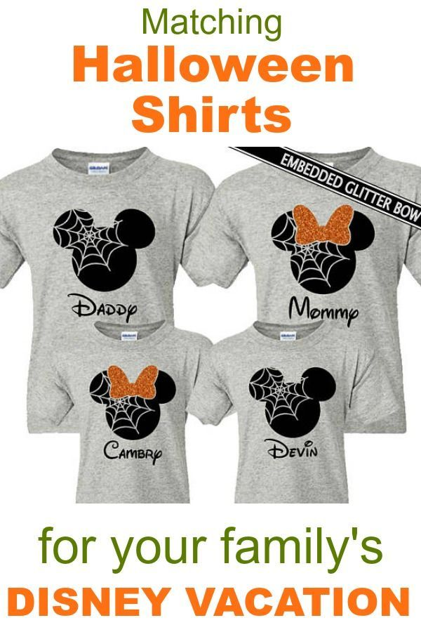 Disney Halloween Shirt Ideas.13 Cute And Funny Matching Disney Family Shirts September