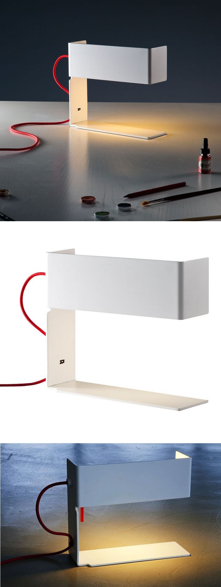 martinelli luce bandero minimalist table lamp bandero office desk 100