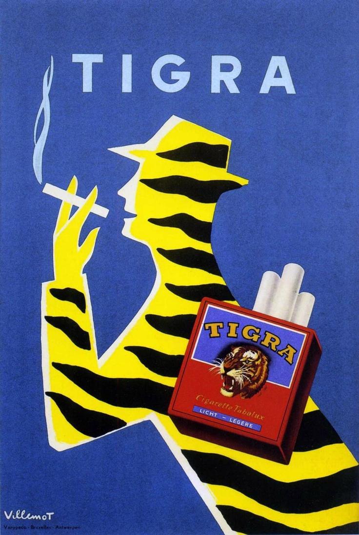 Villemot 1954 Tigra | Vintage poster |