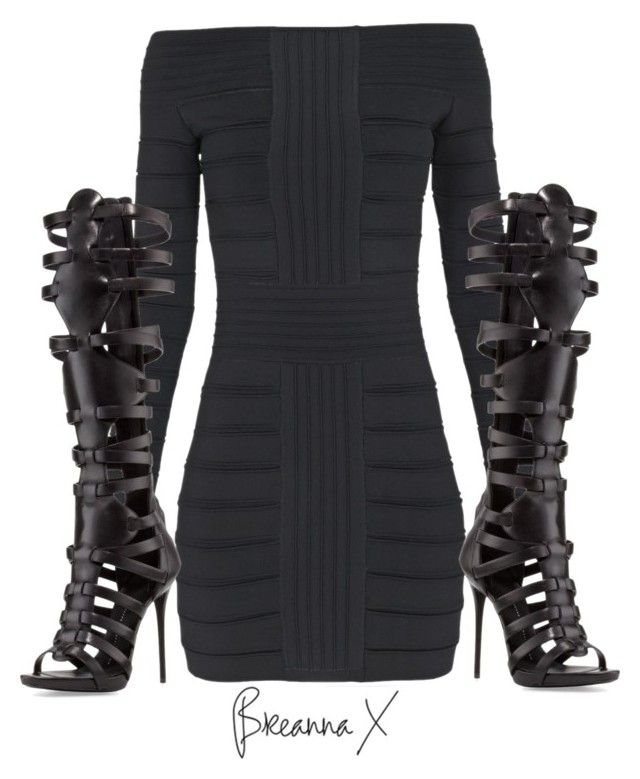 """""""Untitled #2838"""" by breannamules ❤ liked on Polyvore featuring Balmain and Giuseppe Zanotti"""