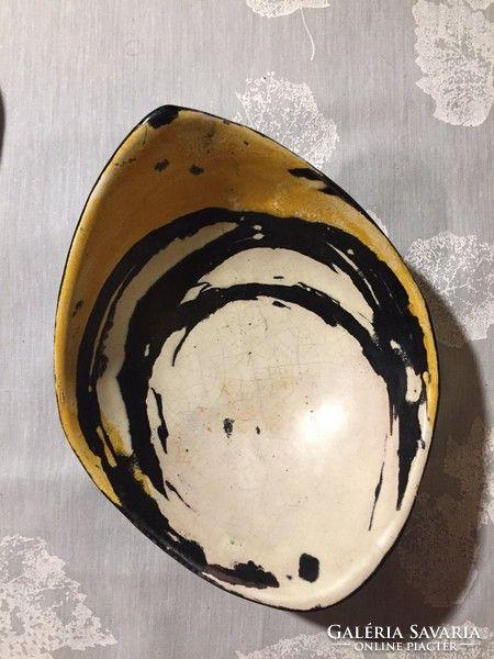Gorka Lívia tálka,kínáló, signed small ceramic bowl