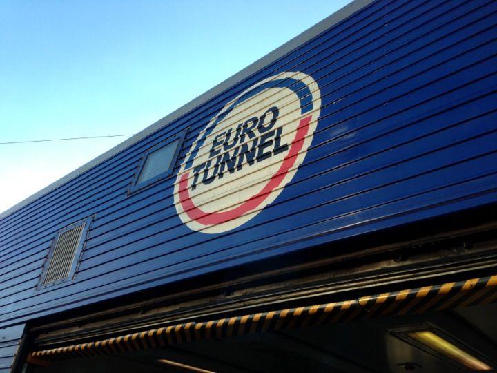 Eurotunnel Victor Hugo Terminal in Folkestone, Kent