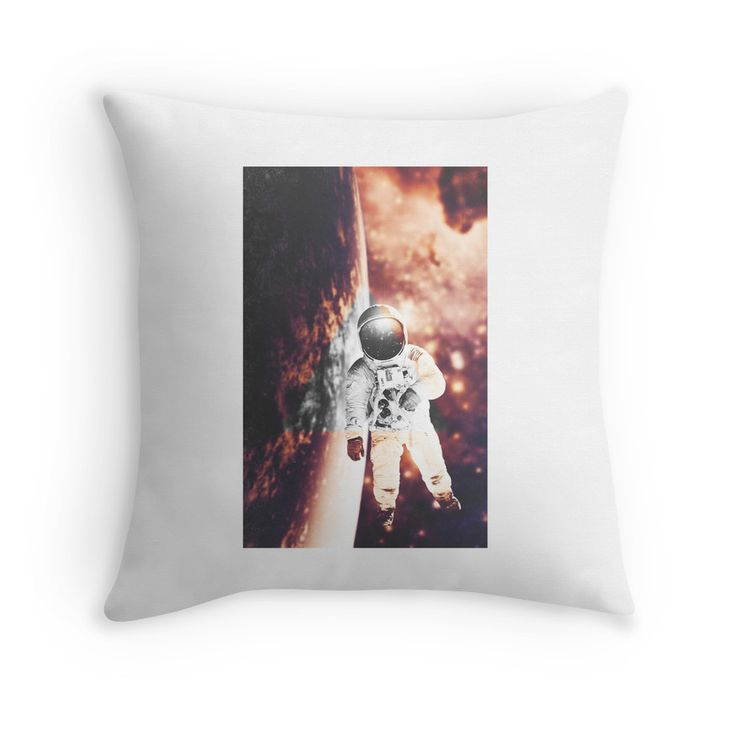 Floating in silence by nath-gary #Home #Pillow #Space #Nebula #Galaxy #Astronaut #Stars #Photomanip #Triangle #WarmColors #Dream #SciFi #HomeDecor