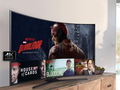 """Smart TV LED Curva 40"""" Samsung 4K Ultra HD - UN40KU6300GX Conversor Digital 3 HDMI 2 USB Wi-Fi com as melhores condições você encontra no Magazine Salessousa. Confira!"""