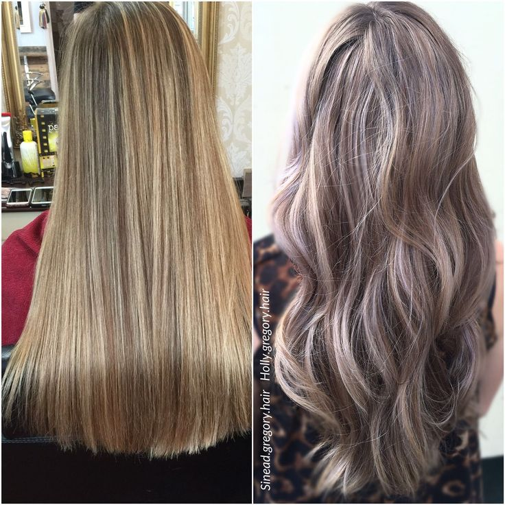 Before and after reverse balayage