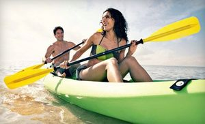 Groupon - Four Hours of Single or Tandem Kayak Rental from Atlantic Boat and Jet Ski Rentals (Up to 75% Off) in Pompano Beach. Groupon deal price: $0.20