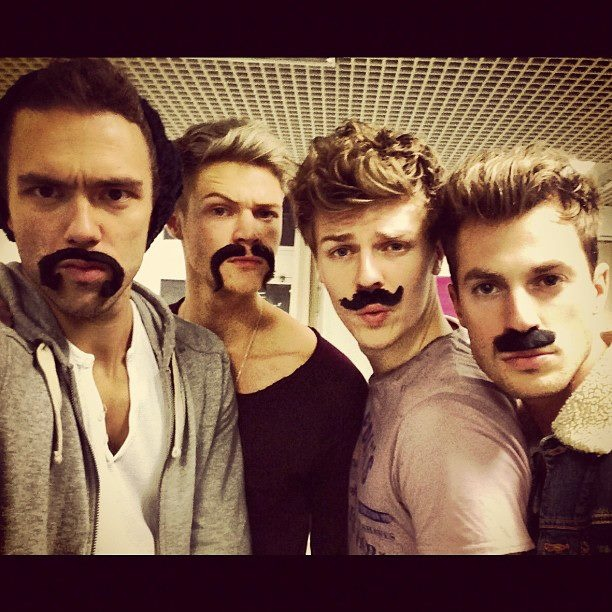 Andy Brown, Ryan Fletcher, Joel Peat and Adam Pitts. Lawson