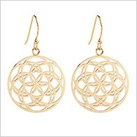 Starlight earrings, 25mm, gold
