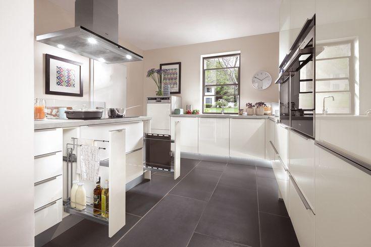 Xeno anthracite ultra high gloss kitchen Home Pinterest - apothekerschrank für küche