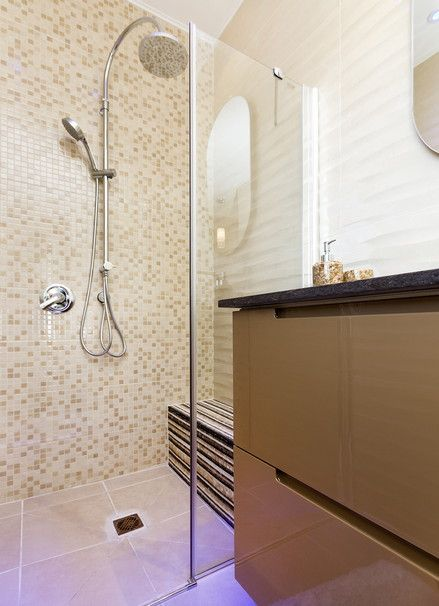 Such a great variety of tiles all blend together in one calming harmony