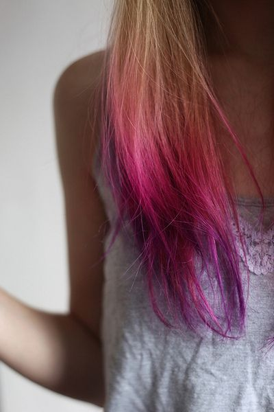 ♛ We Heart Hair♛: Rainbows Hair, Ugg Boots, Hair Colors, Beautiful, Pink, Haircolors, Hair Style, Purple Dips Dyes, Dips Dyed Hair
