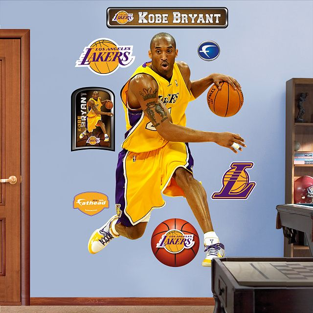 fathead kobe bryant los angeles lakers wall sticker mural decal designs at wall sticker outlet