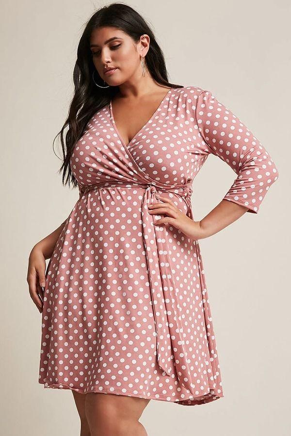Plus Size Polka Dot Dress | Plus size womens clothing, Plus ...