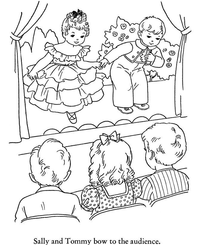 winter season coloring page school play