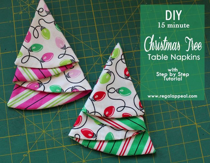DIY Christmas Tree Table Napkin Tutorial