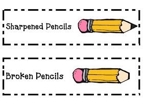 Sharpened/broken pencil labels