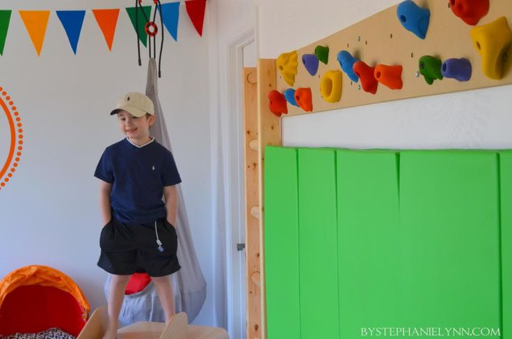 Kids Indoor Rock Climbing Wall   How we put together our playroom hang boards - bystephanielynn