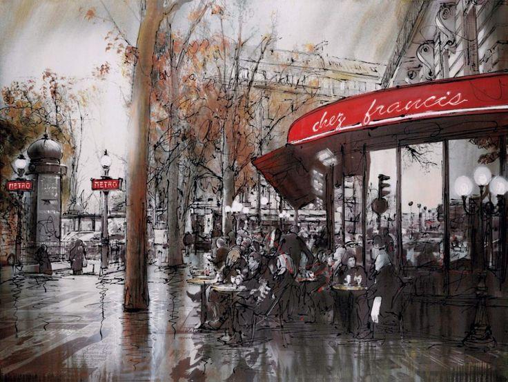 Image of Chez Francis Artwork By Paul Kenton