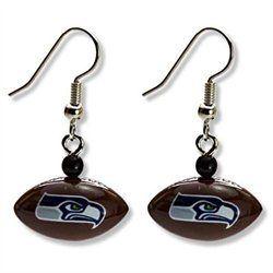 Seattle Seahawks Football Dangle Earrings