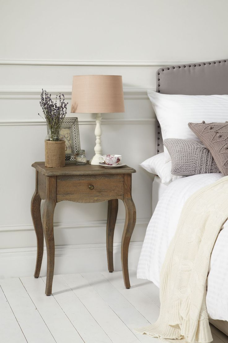 Dalier Bedside - What a romantic bedside..! Made from solid weathered grey wash oak and hadmade carved design, this lover will enchant most hearts. http://dennest.com/bedroom/15-adele-bedside.html