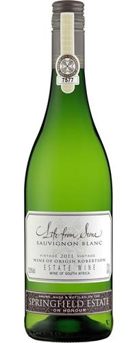 Springfield Estate Life From Stone Sauvignon Blanc 2011...Brilliant greenish in appearance, this is a dramatic wine full of ripe red peppers and passion fruit. A fruity but dry sauvignon blanc...its delish